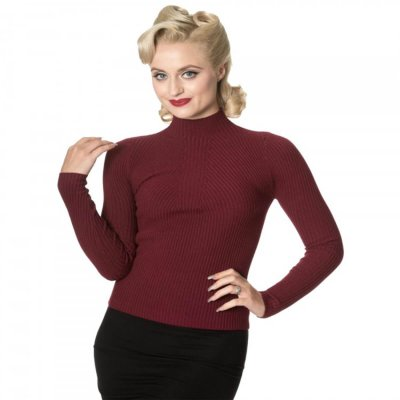 Burgundy Polo Jumper